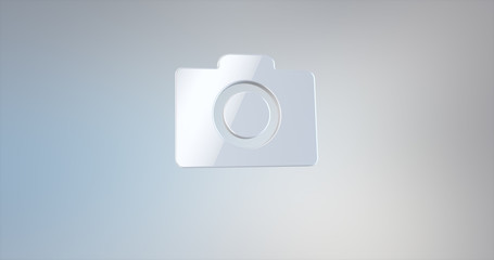 Photo Camera White 3d Icon