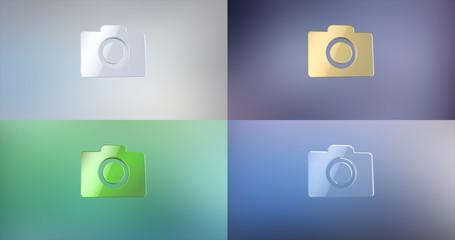 Photo Camera 3d Icon