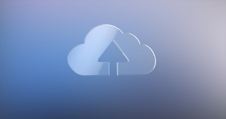 Cloud Up Glass 3d Icon