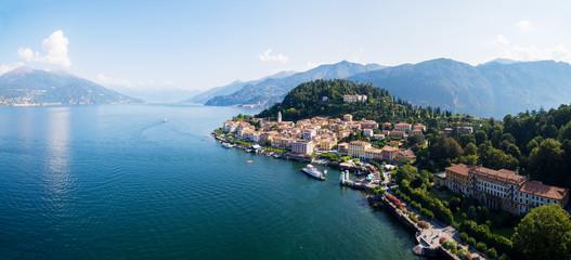 Lago di Como (IT) - Vista aerea verso nordi di Bellagio e lungolago