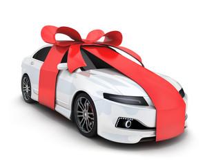 Car and ribbon gift