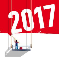2017 - échafaudage - carte de vœux