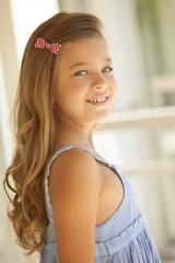 Beautiful blonde blue eyes little girl