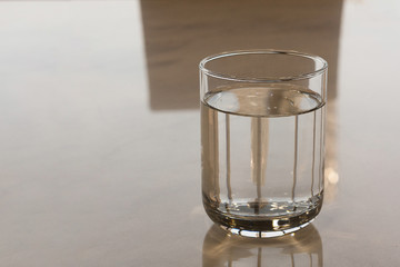 Glass Of Water / Glass Of Water On The Table In Office Worker.