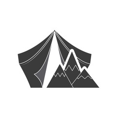 camping tent with outdoor icon vector illustration design
