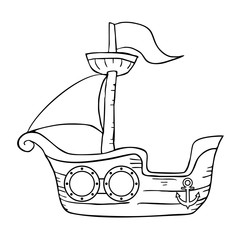 marine ship illustration