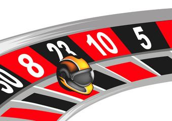 roulette con casco