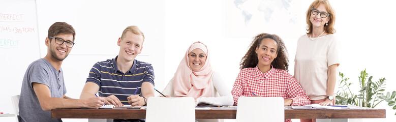 Students improving their language skills