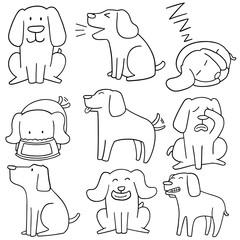 vector set of dog, labrador retriever