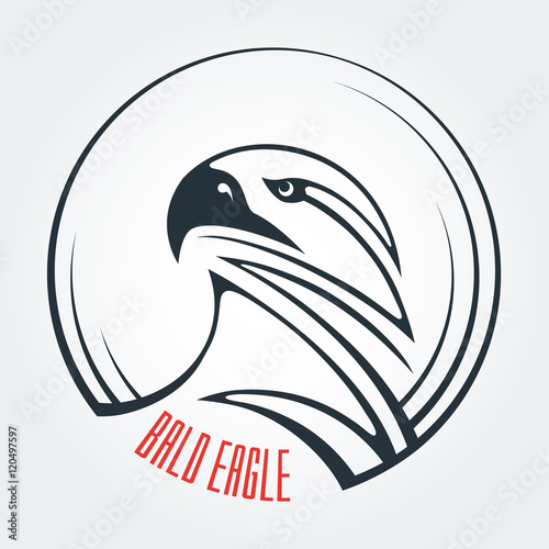 the template and the idea for the logo abstract image of an eagle s