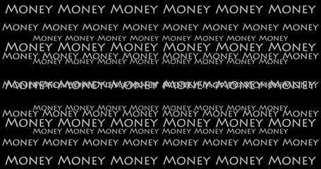 Simple texture related to Money isolated with back background