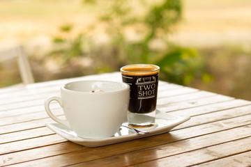 Affogato coffee with ice cream