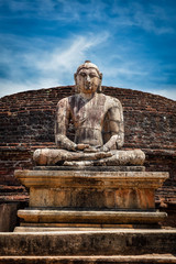 Ancient sitting Buddha image