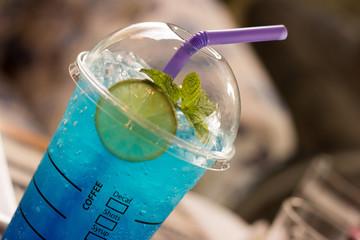 Blue Hawaiian lime soda/Iced blue hawaii