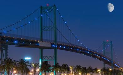 Canvas Prints Bridge Vincent Thomas bridge in San Pedro, California.