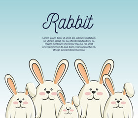 cartoon icon rabbit design isolated vector illustration eps 10