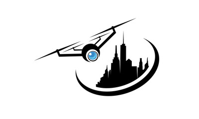 drone photography city logo