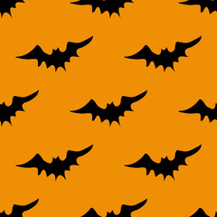 Halloween scary bats pattern
