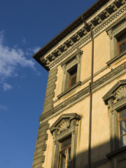 Low angle view of the faade of a building, Orvieto, Terni Provin