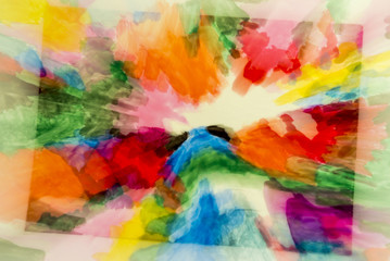 Verwischten Gemälde mit Zoom-Effekt