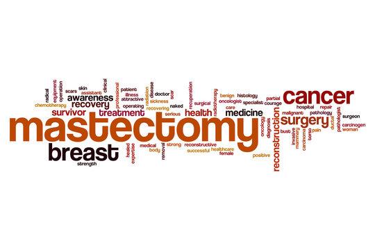 Mastectomy word cloud