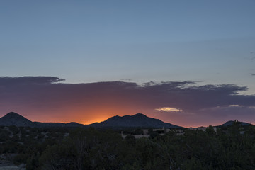 Sunset in Santa Fe