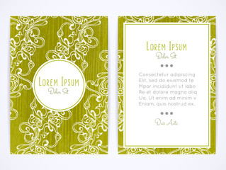 Cover design with hatched ornament. Retro style. Brochure, flyer, invitation or book cover. Size a4. Vector illustration, eps10.