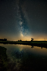 Milky Way reflecting over the pond