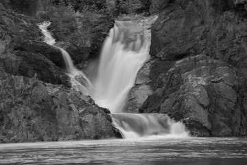 blurred motion waterfall