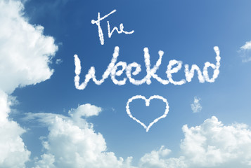The Weekend written in the sky