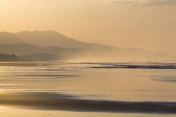 Sunrise on the beach of Matapalo in Costa Rica
