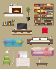 Furniture Elements Interior Set