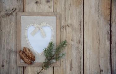 Weihnachtskarte - Bilderrahmen - Herz