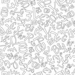 Seamless Pattern of Random Currencies