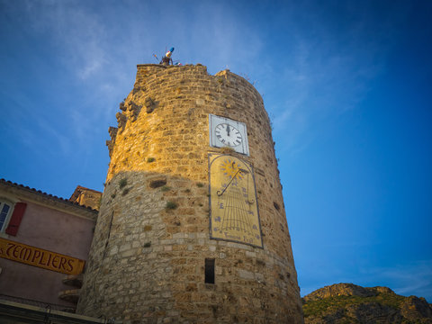 The clocktower in Anduze