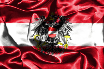 Austrian National Flag With Coat Of Arms