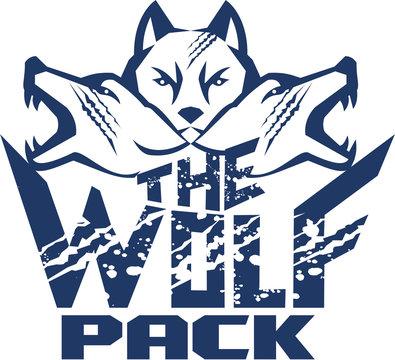Wolf Pack Grunge Retro