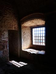 Dark Window in the old castle
