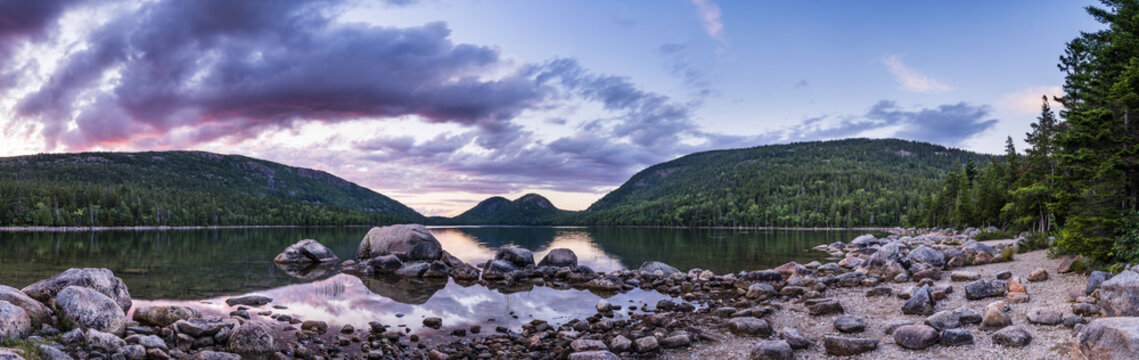 The bubbles at the jordan pond, in the Acadia National Park. Probably one of the most photogenic places in the park.