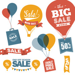 Set of sale design elements