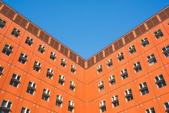 Minimal geometrical building architecture
