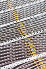 grid profiled metallic flooring industrial background