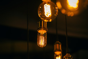 beautiful lighting decor bulb Industrial vintage style.