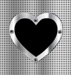 metal light background with heart
