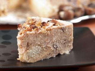 Chestnut and raisins tiramisu - prepared like standard tiramisu