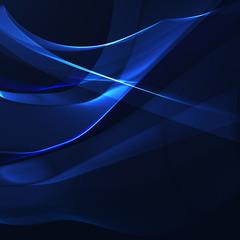 Blue wavy stripes on a dark background