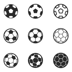 football ball vector icons