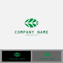 green oval shape logo