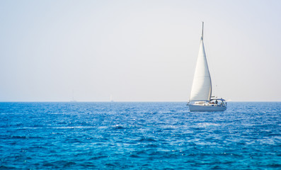 Sailing boat yacht on the sea