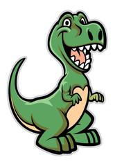 Estores personalizados infantiles con tu foto happy dinosaur cartoon